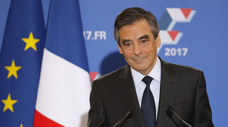Francois Fillon, former French prime minister and member of Les Republicains political party. © Philippe Wojazer