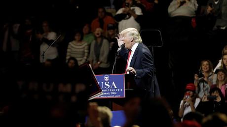 U.S. President-elect Donald Trump speaks at a USA Thank You Tour event at U.S. Bank Arena in Cincinnati, Ohio, U.S., December 1, 2016. © Mike Segar
