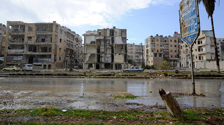 Damaged buildings are pictured near al-Sheehan roundabout after government forces took control of the area in Aleppo, Syria December 2, 2016. © Omar Sanadiki