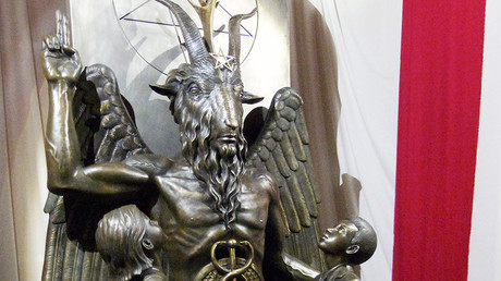 Florida vandals can't handle satanic pentagram next to nativity scene