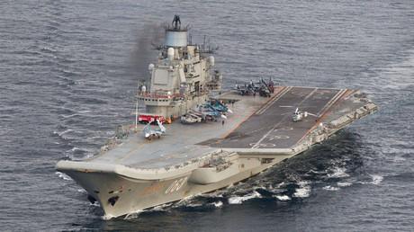 Russian aircraft carrier Admiral Kuznetsov © Norwegian Royal Airforce