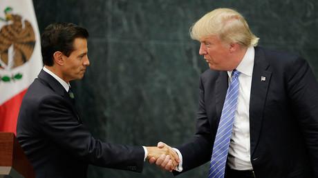 U.S. Republican presidential nominee Donald Trump and Mexico's President Enrique Pena Nieto © Henry Romero