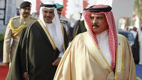 Bahrain's King Hamad bin Isa al-Khalifa (R). ©Hamad I Mohammed