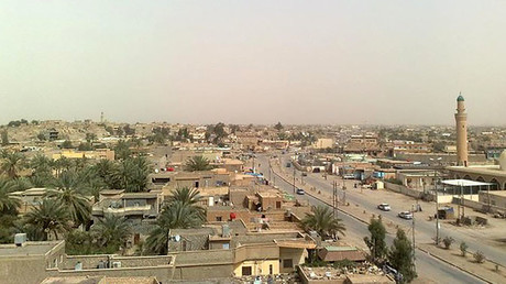 FILE PHOTO: Al-Qa'im, an Iraqi town located nearly 400 km northwest of Baghdad near the Syrian border © Wikimapia.org