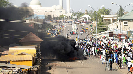 FILE PHOTO Smoke is seen after an suicide bomb explosion in Gombe, February 1, 2015 © Afolabi Sotunde / Reuters