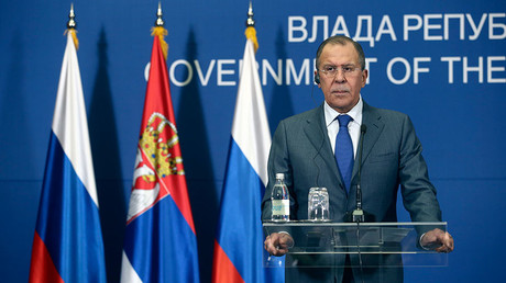 Russian Foreign Minister Sergei Lavrov attends a press conference in Belgrade, Serbia, December 12, 2016. © Djordje Kojadinovic