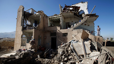 FILE PHOTO: A view of the wreckage of a house destroyed by a Saudi-led air strike on the outskirts of Sanaa, Yemen, November 13, 2016 © Mohamed al-Sayaghi