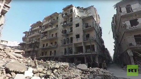 'Surreal, cinematic in a bad way': Aleppo streets 360