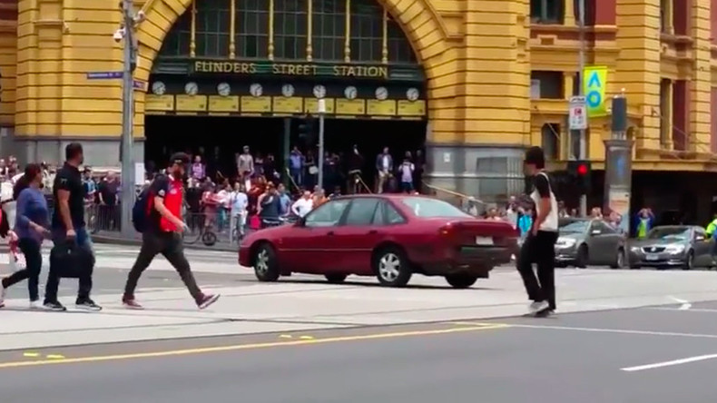 Car 'driving erratically' before smashing into Melbourne crowd caught on camera (VIDEOS) — RT Viral