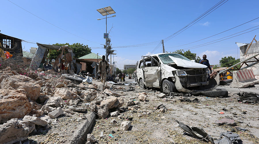 Suicide car bomb kills 3 outside Mogadishu airport near African Union peacekeepers HQ