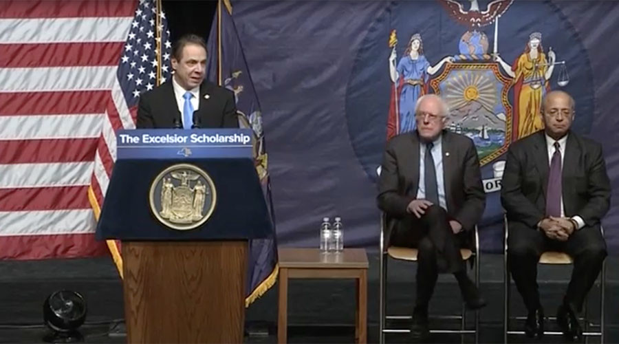 Free tuition at state colleges for qualifying residents -  NY governor