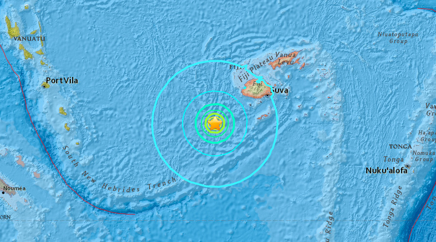 Massive quake off Fiji triggers tsunami warning within 300km radius
