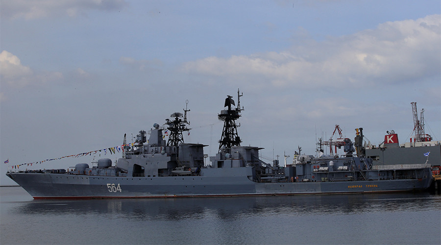 Russian warship in Philippines
