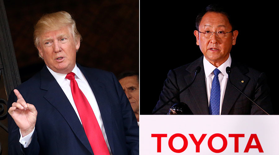 Trump threatens Toyota on Twitter with 'big border tax' if they build plant in Mexico