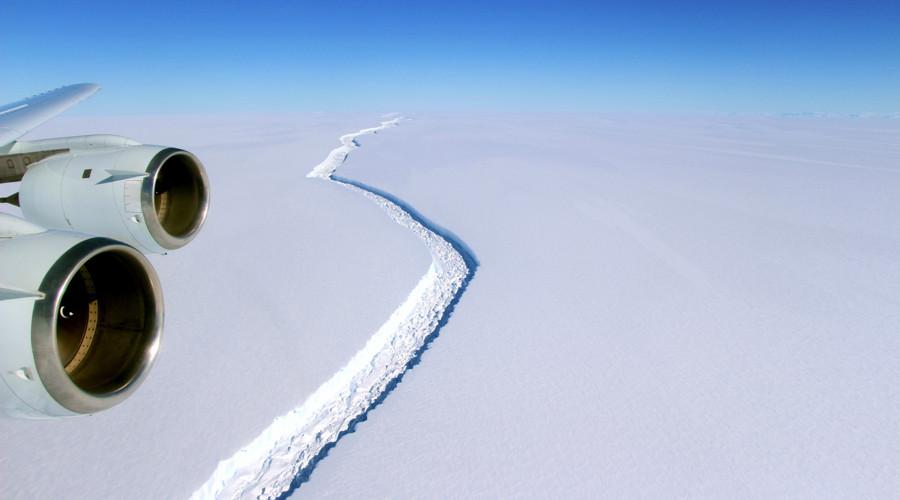 Larsen C ice shelf schism may form giant Antarctic iceberg (PHOTOS, VIDEO)
