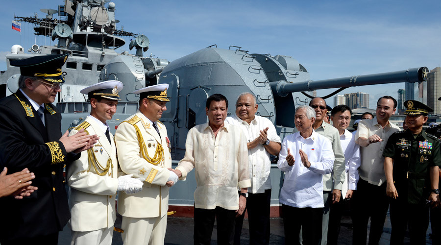 'Dock here anytime': Duterte visits Russian destroyer, wants Moscow to be ally & protector