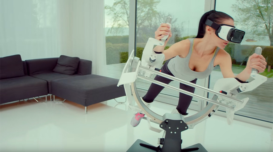 Techies get a 'flying workout' with new VR device (VIDEO)