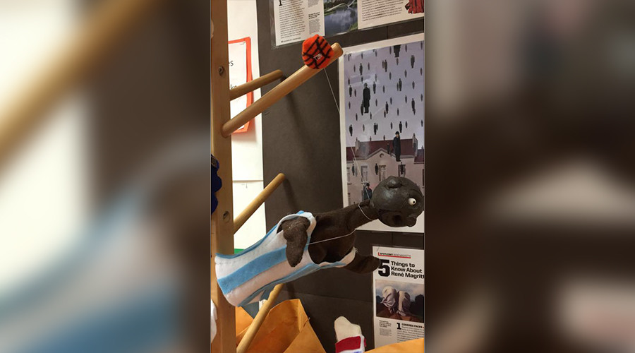 Black hanging dummy greets girls' basketball team in New Jersey high school