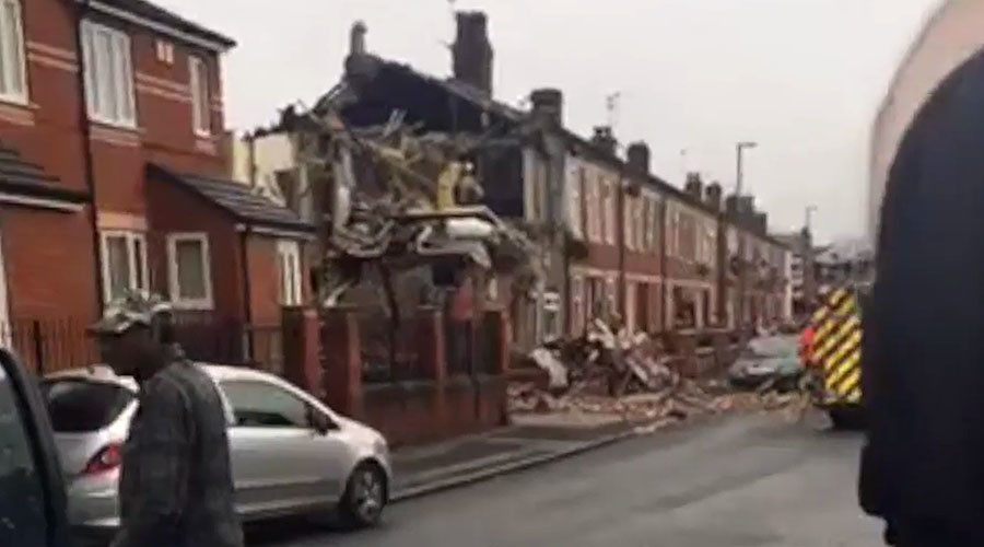 House destroyed by explosion in Manchester