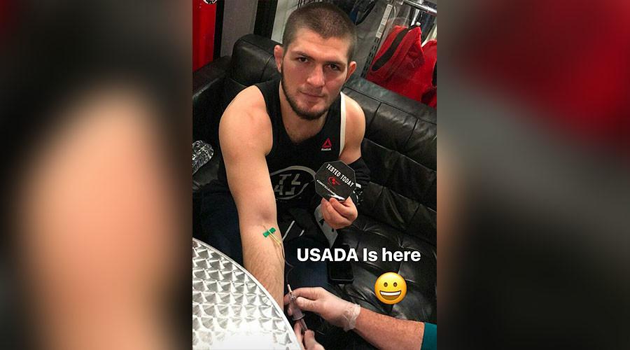 'I love USADA': Khabib Nurmagomedov takes doping test before UFC 209
