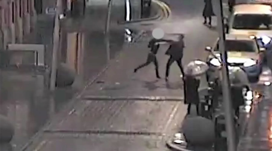 Man stabbed repeatedly in shocking CCTV footage released by Manchester Police (VIDEO)
