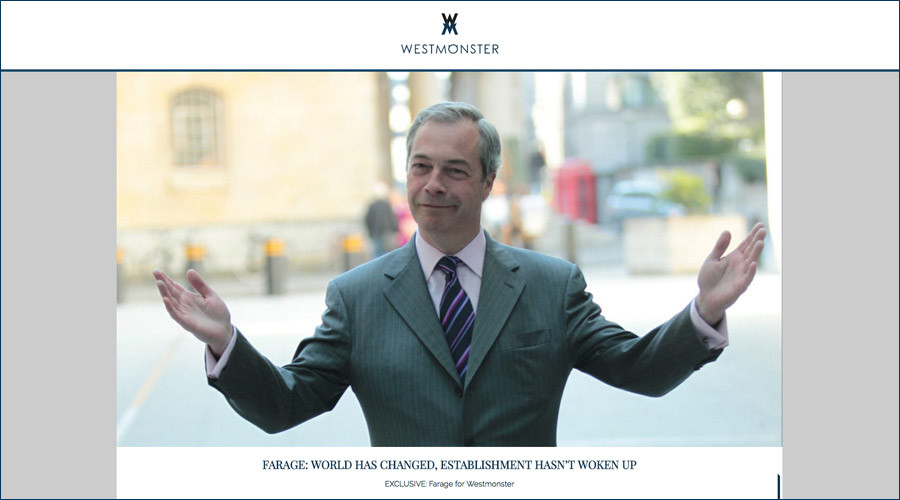 Britain's answer to Breitbart? UKIP donor launches 'Westmonster' website