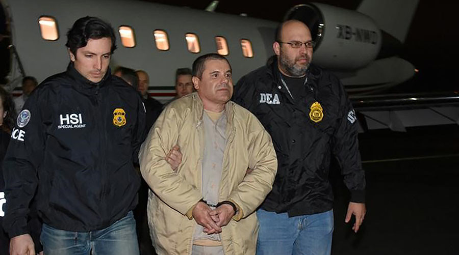 Notorious drug lord 'El Chapo' extradited from Mexico pleads not guilty in NYC court