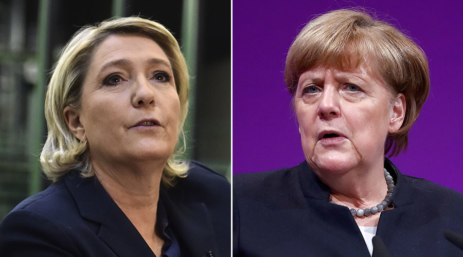 Le Pen taunts Merkel's party as German city readies right-wing convention
