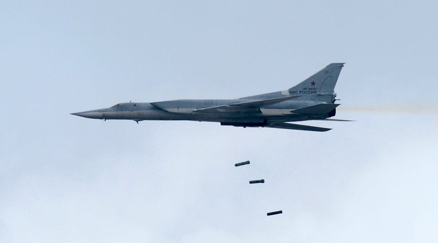 Russian long-range bombers target ISIS positions in Deir ez-Zor Governorate, Syria