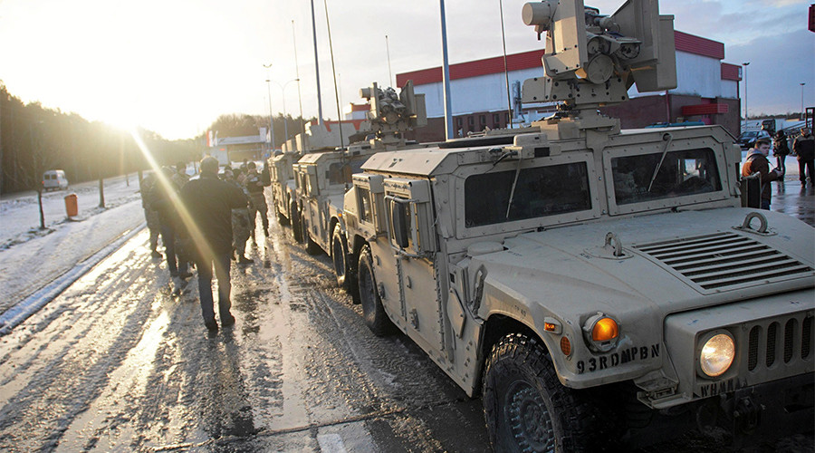 US military truck overturns on Polish road, spills tank shells