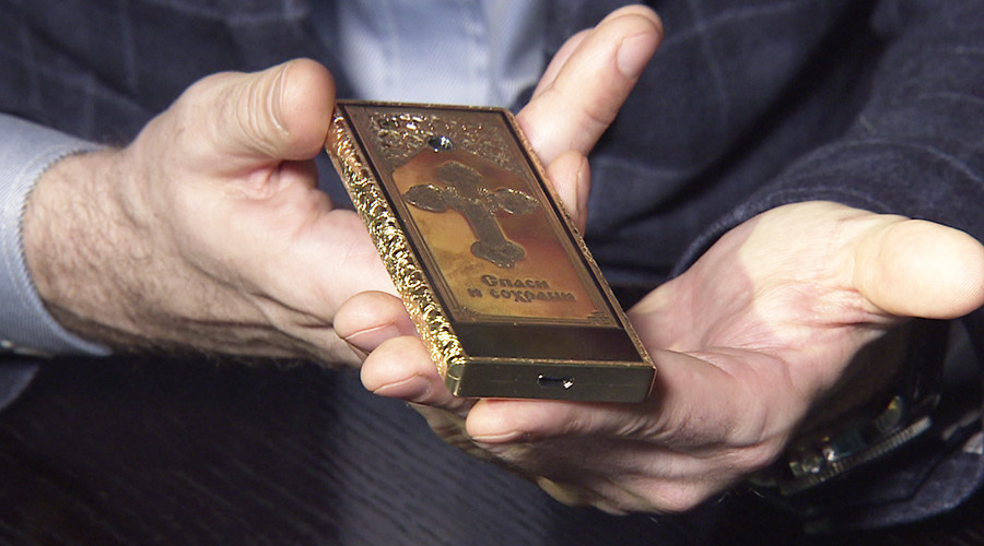 $25k golden Orthodox phone with no internet access goes on sale in Russia (VIDEO)