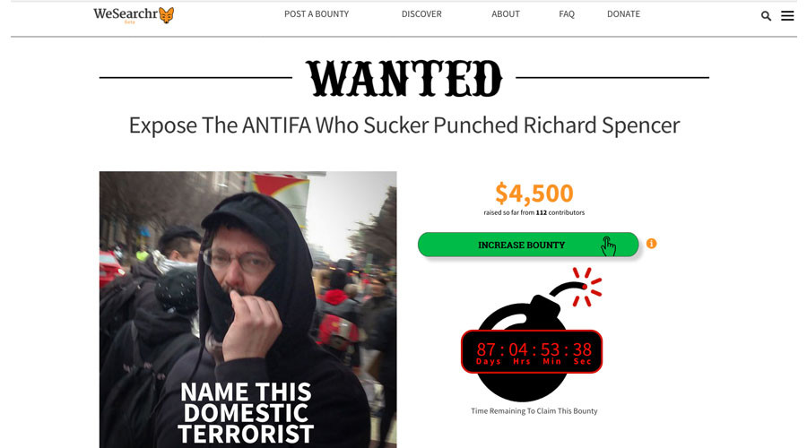 Twitter suspends 'alt-right' WeSearchr on back of dubious bounty offer