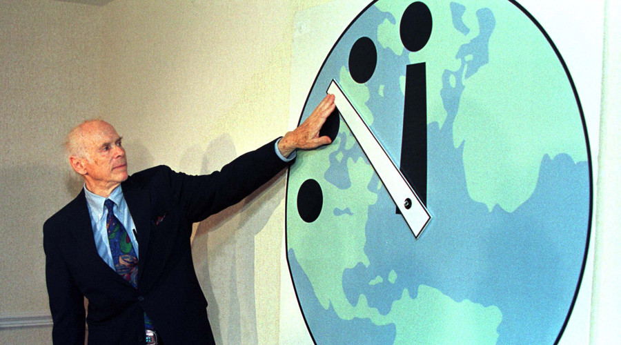 Doomsday countdown: Famous clock could herald Earth's dying days