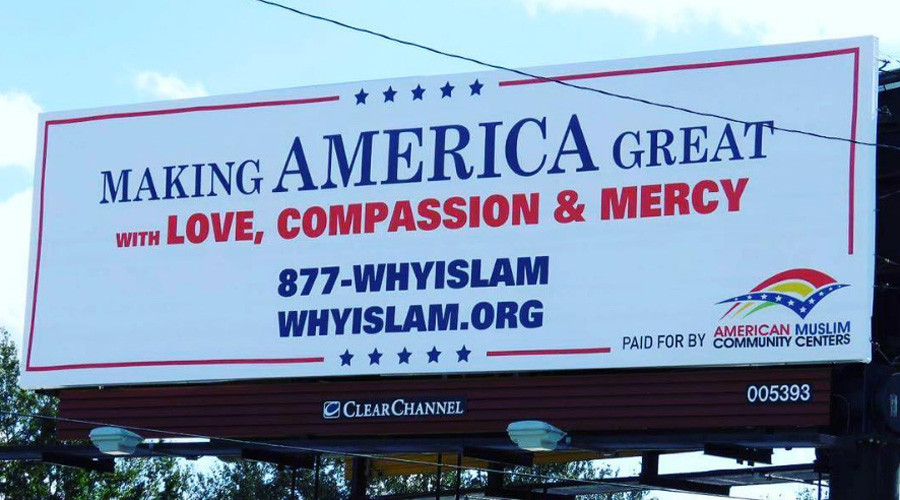 Muslim billboards in Florida riff on Trump's election slogan (PHOTOS)