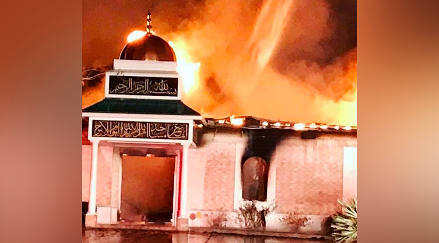 Texas mosque destroyed in blaze, fire chief urges community 'not to jump to conclusions' (PHOTOS)