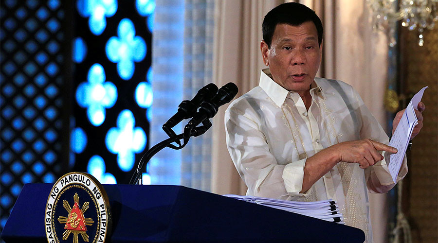 Duterte asks United States not to store weapons in Philippine camps