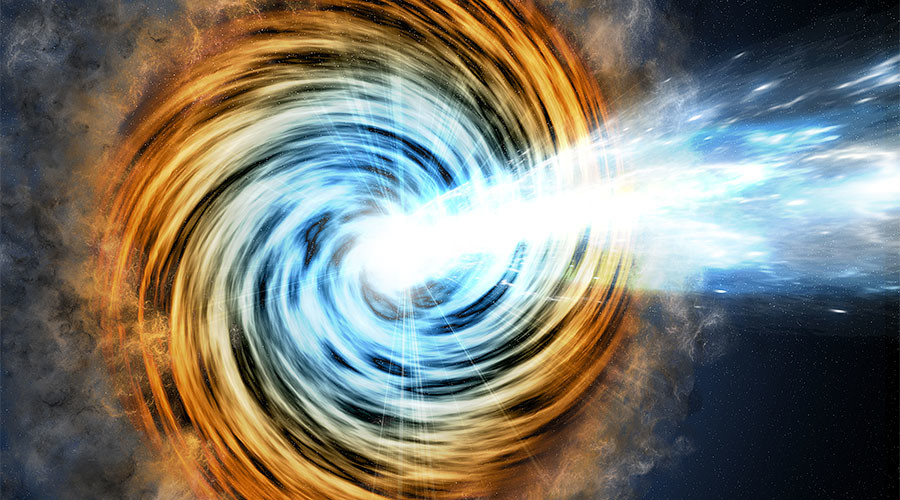 Supersized black hole powered galaxy: NASA telescope spots most extreme blazars yet (VIDEO)