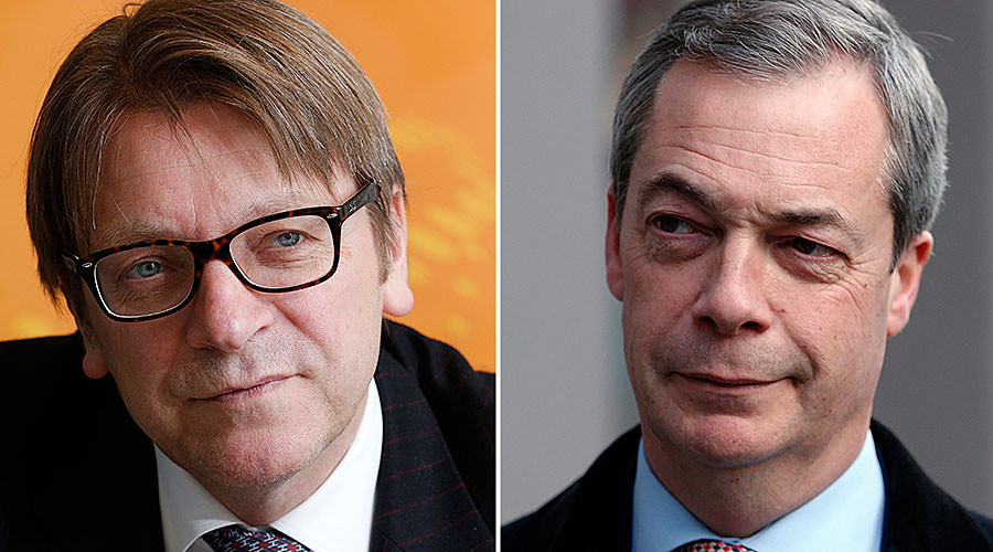 Nigel Farage calls LBC radio show to attack EU's Brexit negotiator Guy Verhofstadt live
