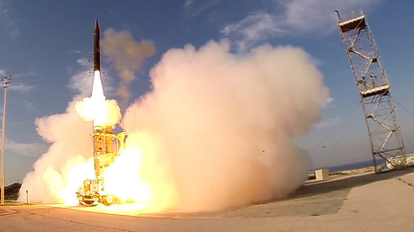 The Israel Missile Defense Organization (IMDO) of the Directorate of Defense Research and Development (DDR&D) and the U.S. Missile Defense Agency (MDA) conducted a successful first engagement of a ballistic missile target with the Arrow-3 interceptor. © U.S. Missile Defense Agency