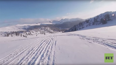 Winter wonderland in 360! Super speedy snow ride in Siberian nature park