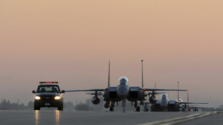 U.S. Air Force F-15E Strike Eagles taxi the runway after landing at Incirlik Air Base, Turkey © US AIR FORCE
