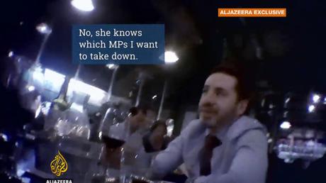 Snapshot of video showing Shai Masot. © Al Jazeera Investigative Unit