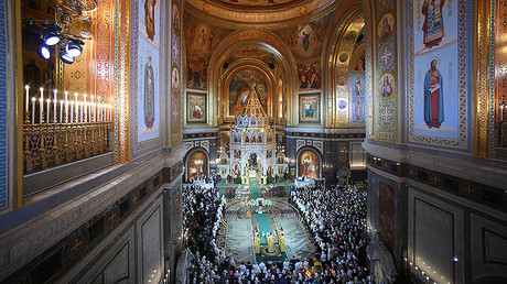 Orthodox Christmas in 360: Midnight service at Christ the Savior Cathedral in Moscow