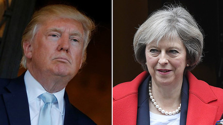 U.S. President-elect Donald Trump (L), Britain's Prime Minister Theresa May (R). © Reuters