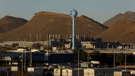 A general view shows the General Motors assembly plant in Ramos Arizpe, in Coahuila state, Mexico. ©Daniel Becerril