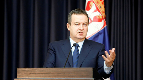 Serbian Foreign Minister Ivica Dacic. ©Mussa Qawasma