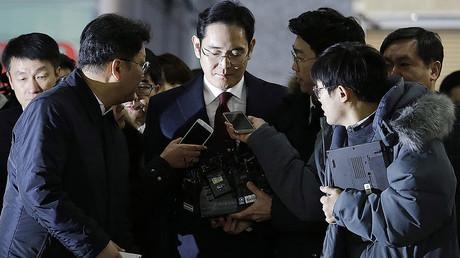 Lee Jae-yong (C) vice chairman of Samsung Electronics © AHN Young-Joon