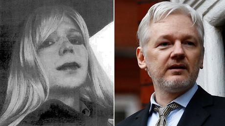 (L-R) Chelsea Manning and WikiLeaks founder Julian Assange © Reuters
