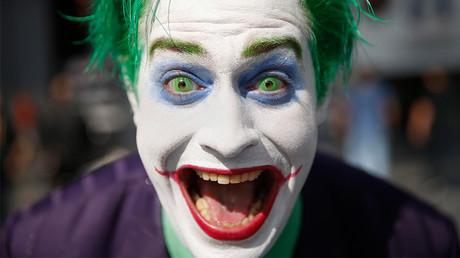 Trevor Olson, from Minnesota, dressed as The Joker at New York's Comic-Con convention © Shannon Stapleton