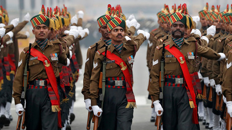Military parade celebrates 69th Army Day in New Delhi